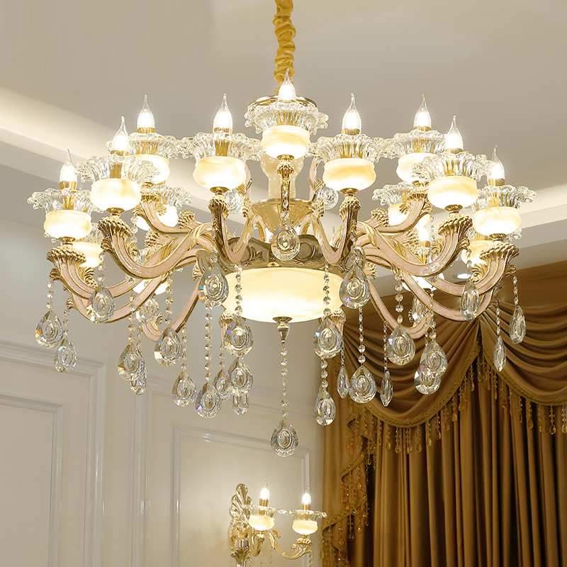 Modern Led Crystal Chandelier Bedroom Lamp Large Crystal