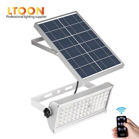 ltoon 65 leds luz solar super brilhante 12 w spotlight sem fio ao ar
