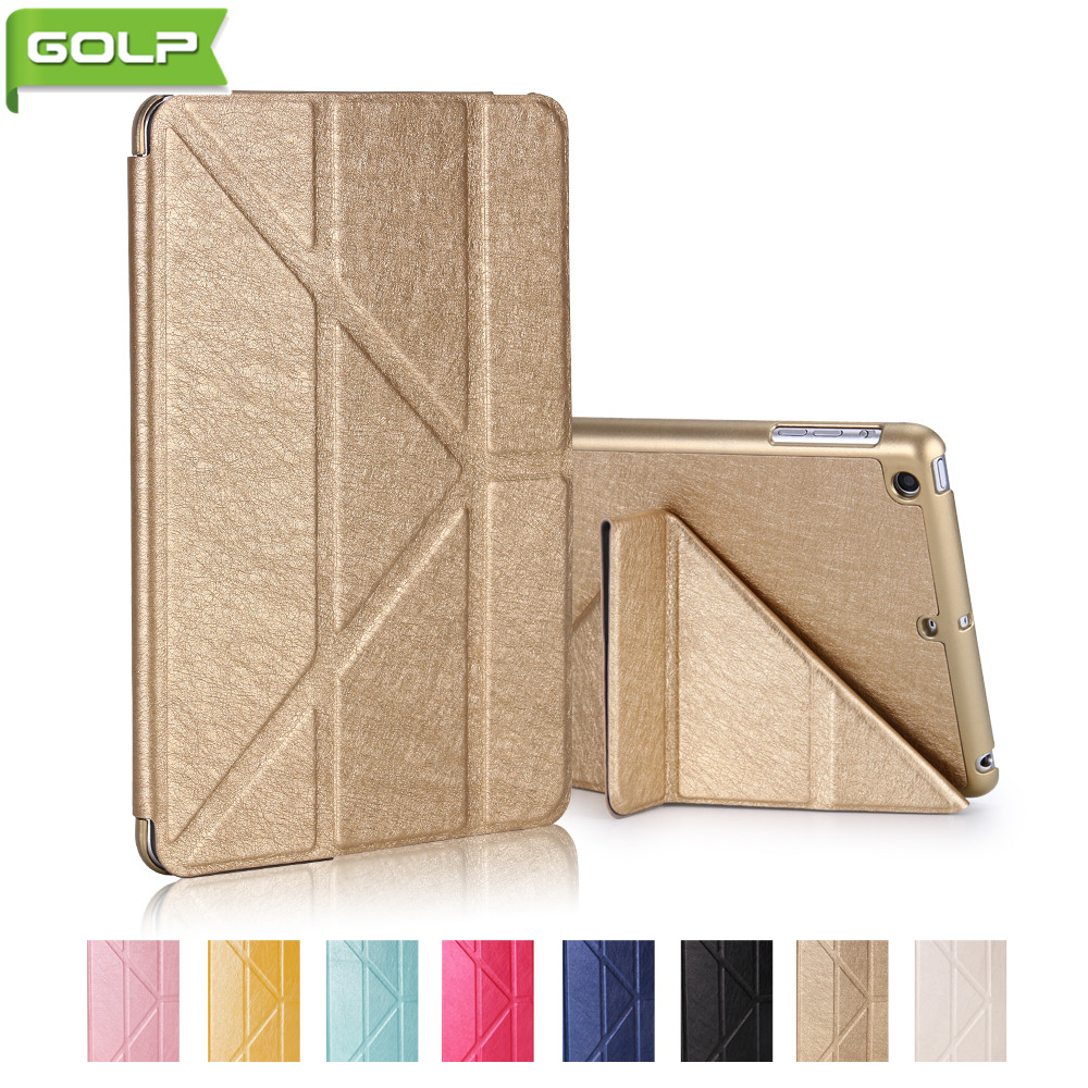GOLP Case for IPad MINI 1 2 3 Luxury Multiple Angle Stand PU Leather Protective Cover PC Back Tablet Case for iPad MINI 1 2 3 protective pu pc flip open case cover for ipad mini red