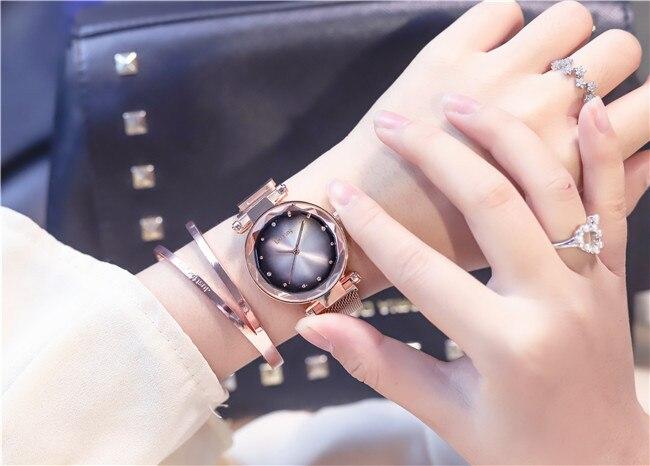 Relógios de Pulso Pulseira Ímã Magnético