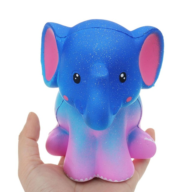 Elephant Colorful  13.5*10.5cm Slow Rising With Packaging Collection Gift Soft Decoration Animal Relief Stress Children Toys