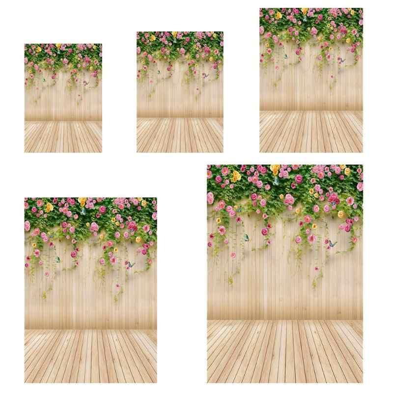Planches en bois fleur photographie fond tissu toile de fond Studio décor photo studio