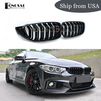 M4 M3 Kidney Grille Grill for BMW 4 series f32 f33 f36 M3 f80 M4 f82 Front Racing Grille 2 Slat ABS Gloss Black 428i 435i 2013 +