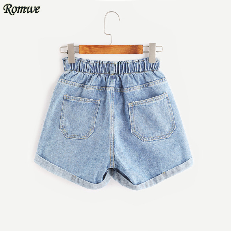 Aliexpress.com : Buy ROMWE Mid Waisted Shorts for Women Jean ...