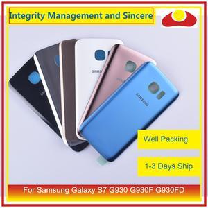 Image 4 - 50 шт./лот для Samsung Galaxy S7 G930 G930F G930FD SM G390F корпус батарейного отсека задняя стеклянная крышка корпус