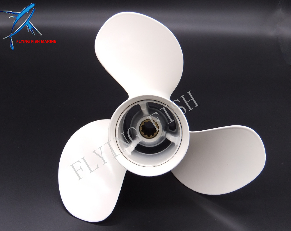 NEW 9 7/8x13-F Aluminum Alloy Propeller for Yamaha 20HP 25HP 30HP Outboard Motor 9 7/8 x 13 -F