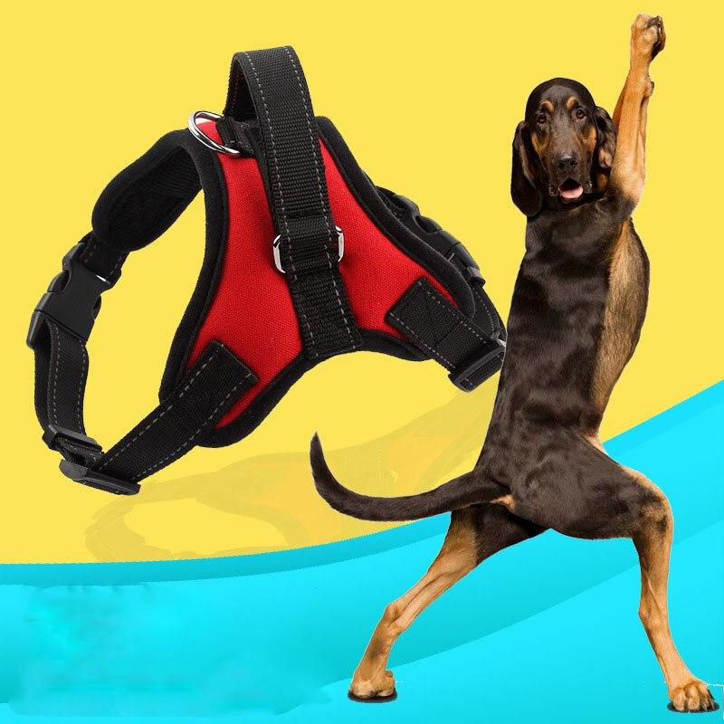 New High Quality Pet Large Dog Harness Vest Retriever Big Dog Training Harness arnes del perro Free Shipping Control Handle
