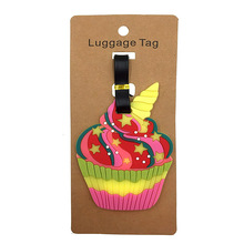 Cartoon Portable Label  Travel Accessories Cup Cake Luggage Tags Silica Gel Suitcase ID Addres Holder Kawaii Baggage Boarding