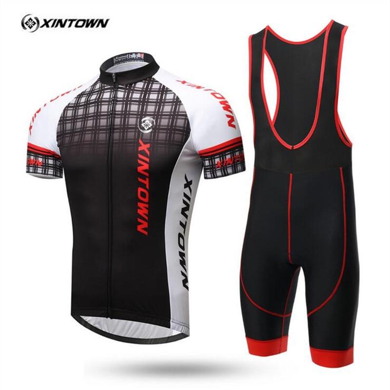 XINTOWN 2017 새로운 패턴 남성 짧은 소매 자전거 유니폼 여름 망 자전거 산악 자전거 의류 Ropa Ciclismo