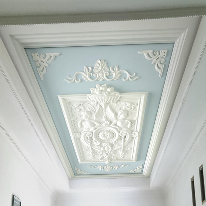 Custom Photo Wallpaper Murals 3D European Style Relief Carved Ceiling Decoration Mural Wallpapers For Living Room Bedroom Wall