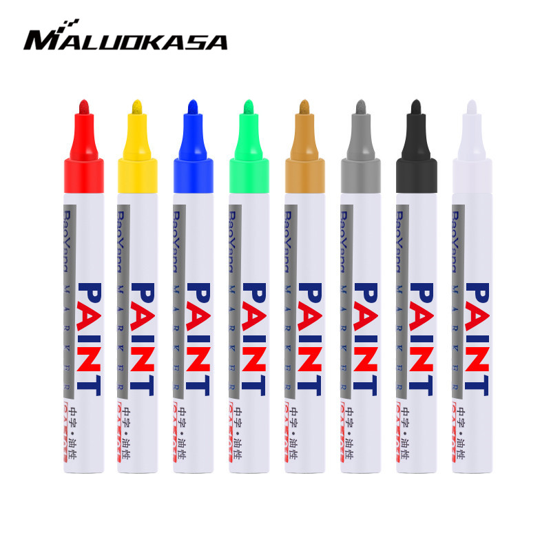 Paint Pen For Car Tire Markers Waterproof Permanent Tire Ink For Motorcycle Tyre Tire Glass Wood Metal Rubber Rocks Stone Arts