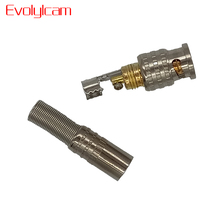 Evolylcam 10pcs Gold BNC Male Video Plug Coupler Connector to Screw For RG59 Cable Adapter CCTV Camera Surveillance Accessories