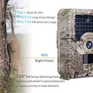 Image 3 - JOYZON HD 1080P охотничья камера 12MP 49pcs 940nm Инфракрасные светодиоды ночного видения охотничья ловушка для дикой природы камера ловушка для фото животных