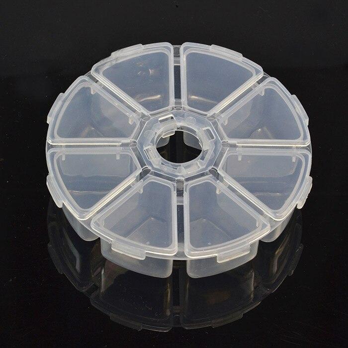 Мини 8 сетки Comp Книги по искусству ment Дизайн ногтей Rhinestone Самоцветы Пластик коробка круглая коробка для хранения Дело ювелирные изделия из б...