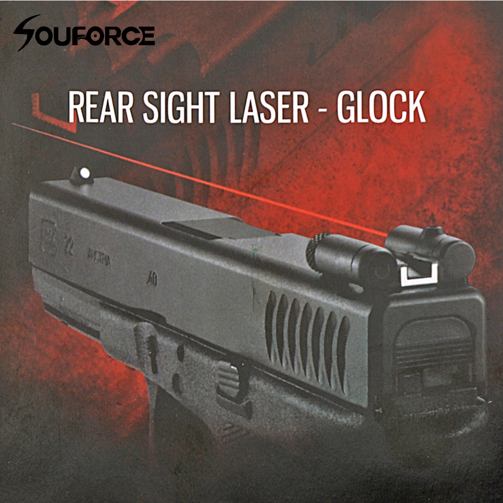 Tactical Steel Rear Sight Laser Red Dot Laser Sight for All Pistol Glock Series Hunting Scope Laser Sight 3 10x42 red laser m9b tactical rifle scope red green mil dot reticle with side mounted red laser guaranteed 100%