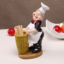 Resin decorative cook toothpick holder for restaurant decora