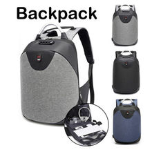 Korea Anti-theft Men Women Laptop Notebook Backpack USB Charge Port School Travel Bag Anti Theft