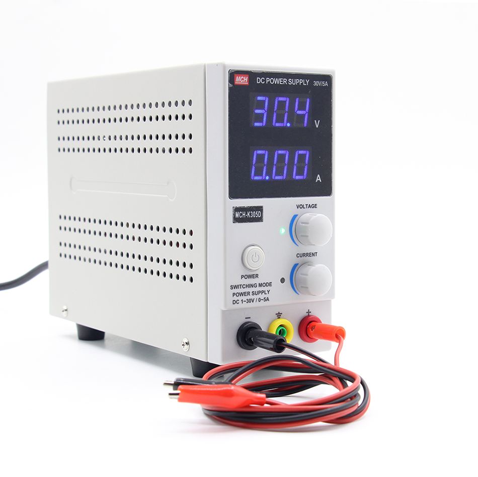 New Design MCH-K305D Mini Switching Regulated Adjustable DC Power Supply SMPS Single Channel 30V 5A Variable mystery mch 1025