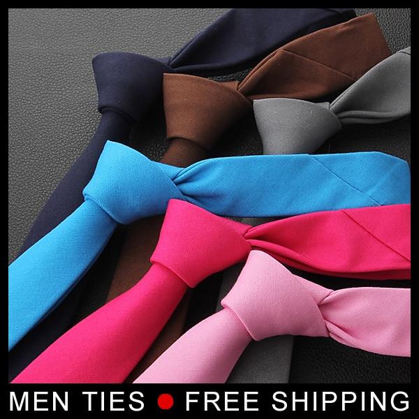 Men solid Color Ties 5cm wide Mens Necktie Leisure Slim Narrow ties Formal business wedding Gifts Ties 10 colors