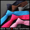 Men solid Color Ties 5cm wide Mens Necktie Leisure Slim Narrow ties Formal business wedding Gifts Ties 10 colors