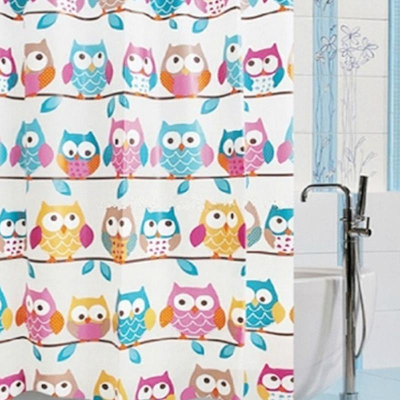 online shop new 7070 cute owl shower curtains bathroom products waterproof eva shower bath curtain fashion curtain with 12 hooks aliexpress mobile - Cute Shower Curtains