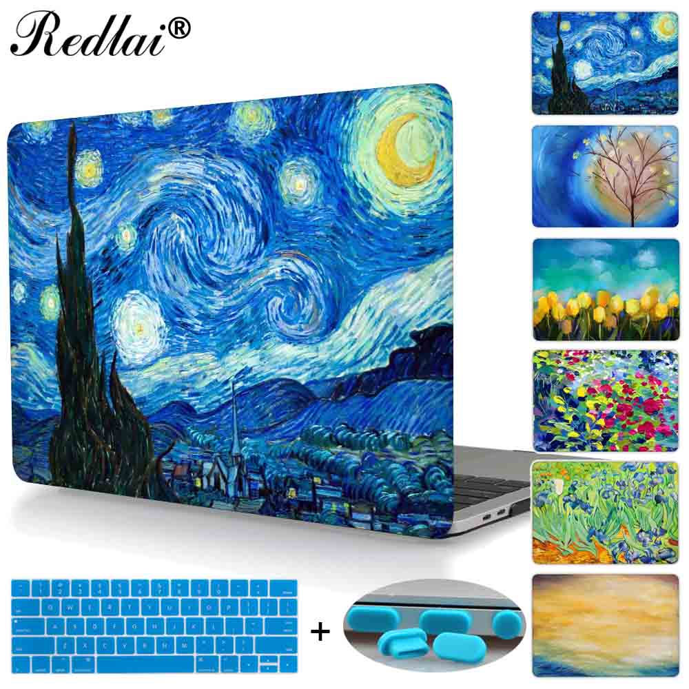 Starry Night Laptop Case For Macbook Pro 13 15 Case A1706 A1708 A1707 Touch bar & 2016 Retina Cover For Mac Air Pro Retina 13 15 for macbook pro 13 15 2017 2016 case with non touch bar a1706 a1707 a1708 laptop print case cover air pro retina 13 3 15 4