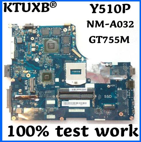 KTUXB VIQY1 NM A032 is suitable for Lenovo Y510P notebook motherboard PGA947 HM87 GT755M 2G DDR3