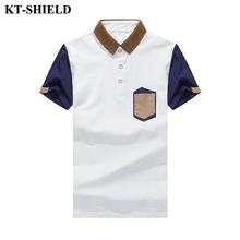 Brand 2017 Men's Polo Shirt 100% Cotton Patchwork Short Sleeve Camisas Polos Casual Turn-Down Collar Jerseys Fitness Polo Shirts