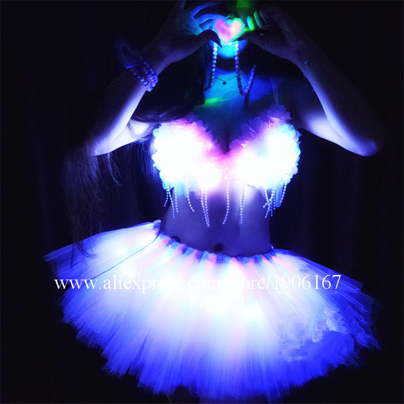 Fashion New Design Led Sexy Girl Show Performance Dress Stage Performance Clothes Costumes Set costumes
