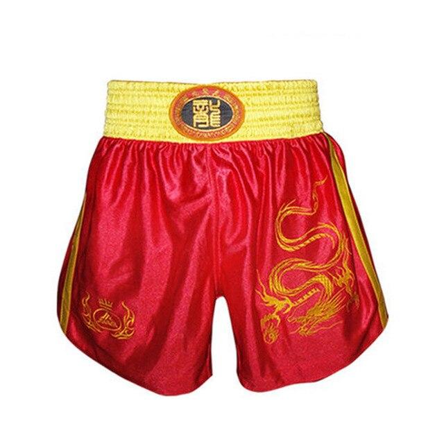 374fa61798 Luta Shorts Muay Thai Calças Calções de Boxe Roupas Esportivas Bermudas  Livres de combate dos homens