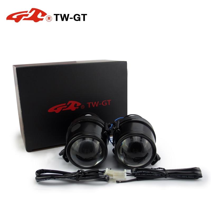 купить TW-GT DIY 2.5 Inch hid bi xenon fog lamp projector lens foglight H11 for MAZDA 2 3 5 6 BT-50 CX-5 CX-7 MPV FORD RANGER ESCAPE недорого