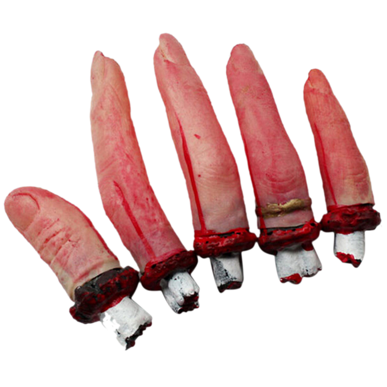Satkago Halloween Props Product Outfit Party Cosplay Prank Toys 5 Severed Fingers