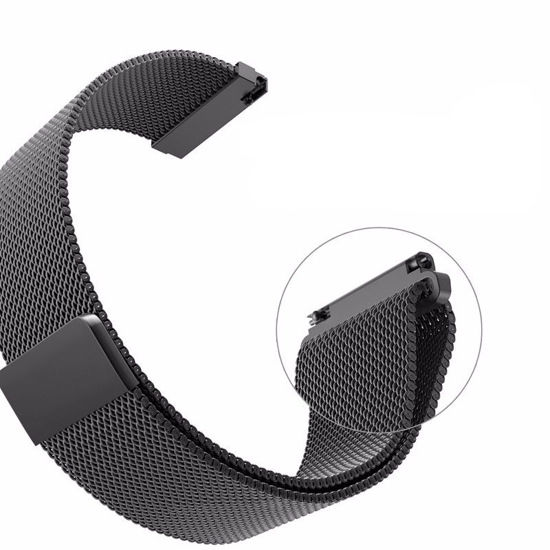 Malla Milanese Loop Watchbands 16mm 18mm 20mm 22mm 24mm Plata Rosa - Accesorios para relojes - foto 5