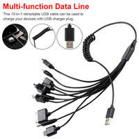 10 in 1 Multifunction USB Data Transfer Cable Universal Multi Pin Cable Charger USB Adapter Cable Data Wire Cord for Laptop PC