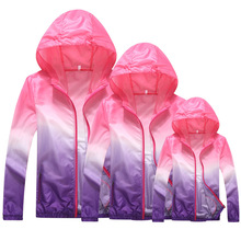 Family matching outfit sun protection clothing ultra-thin outdoor sports protective UV jacket kids clothes