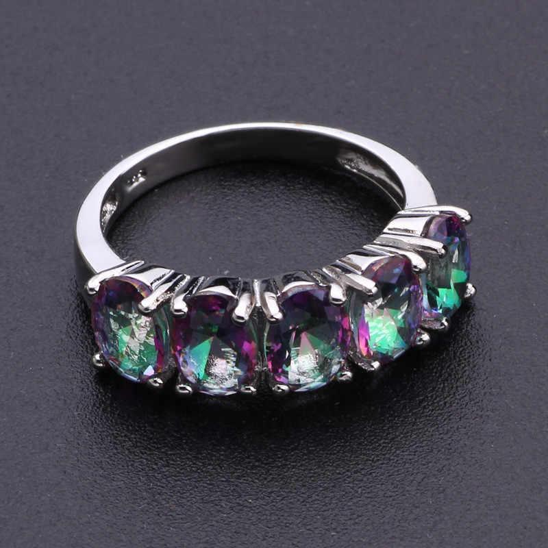 Modyle טבעי בוהמיה סגנון אטרקטיבי עיצוב תכשיטים סגול AAA קריסטל 925 טבעת כסף סיטונאי DropShipping