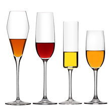 Transparent Crystal glass Cup Champagne Beer Wine Lead-free goblet Glasses Bar Party Red Glass Flutes cup