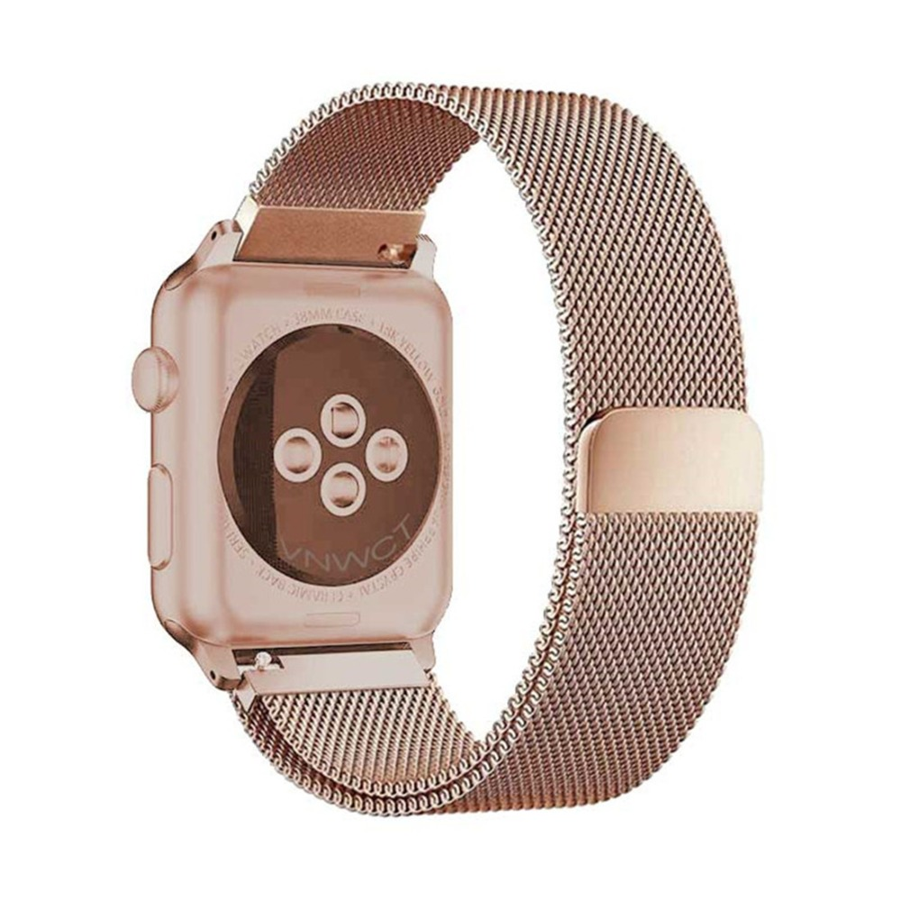 Milanese Loop For apple watch band strap correa 44mm/40mm 42mm 38mm iwatch Series 4/3/2/1 Stainless Steel Wrist Bracelet Belt stainless steel watch band 26mm for garmin fenix 3 hr butterfly clasp strap wrist loop belt bracelet silver spring bar