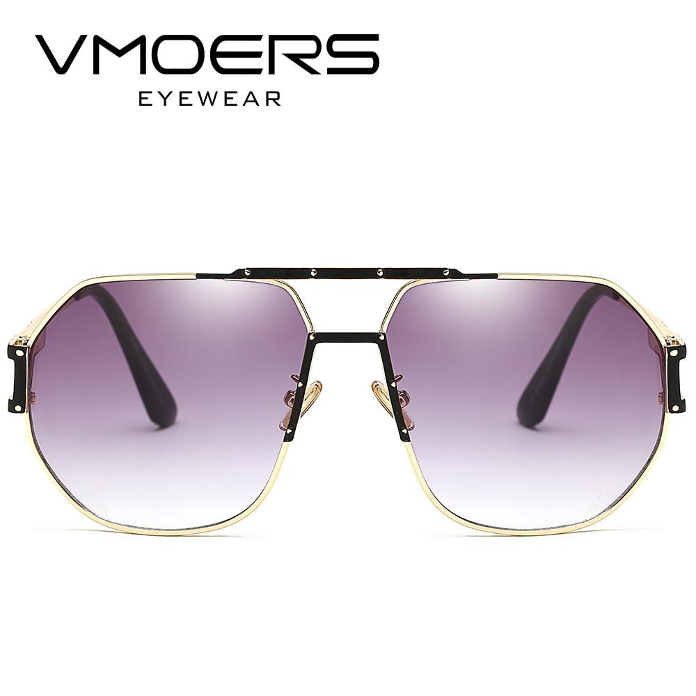 Vmoers gran tamaño Monturas de gafas aviador ojo Gafas marcos para ...