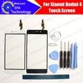 Para xiaomi redmi 4 tela de toque digitador garantia 100% nova alta qualidade do painel de vidro digitador da tela de toque para redmi 4 + presentes