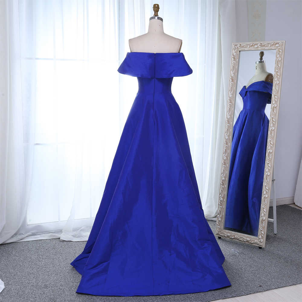 f42d94ba8b0 ... Simple Royal Blue Evening Dresses 2019 High Slit Long Women Off the  Shoulder Evening Gowns Plus ...