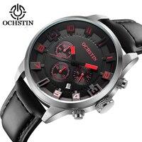 2018 New Watch Men Brand Ochstin Sport Men S Watches Leather Quartz Waterproof Chronograph Wristwatch Military