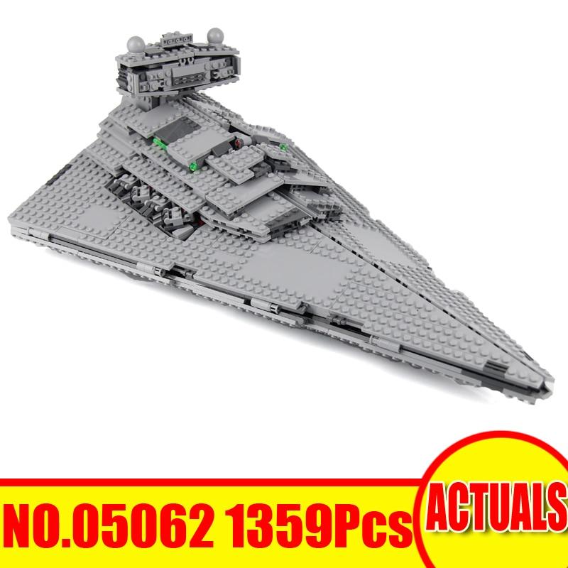 Lepin 05062 Star Wars Figures 1359Pcs Imperial Star Destroyer Building Model Blocks Bricks Set Kids Toys For Children Gift 75055