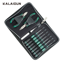 KALAIDUN Hand Tools Kit 11pcs General Household Repair Electrical Field Suited Home Office Computer Car Bike Electronic Tool Set