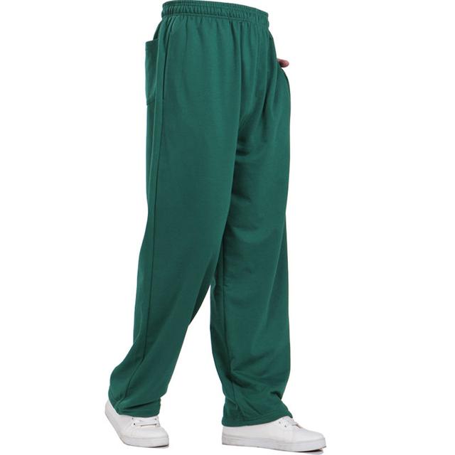 2016 moda para hombre chándal sólido ocasional masculino de hip hop pantalones basculador al aire libre Pantalones de Chándal Hombres Pantalon Homme 3XL 4XL 5XL 200
