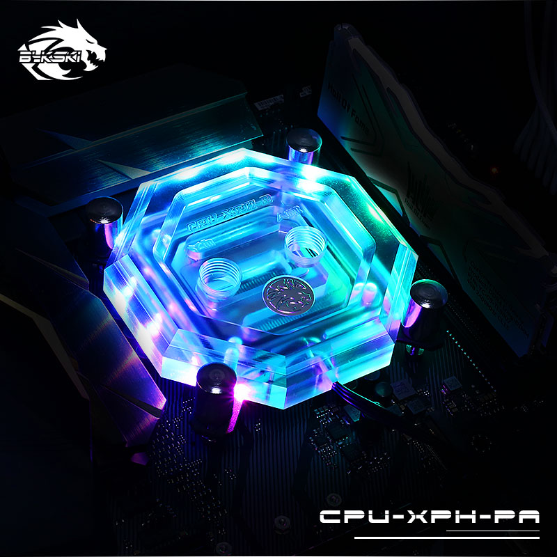 Bykski CPU Water Block use for INTEL LGA1150 1151 1155 1156 2011 X99 RGB support 5V 3PIN GND Header to Motherboard / CPU-XPH-PA barrow energy series intel cpu water block supreme edition for lga 115x 1150 1151 1155 1156 cpu water block black
