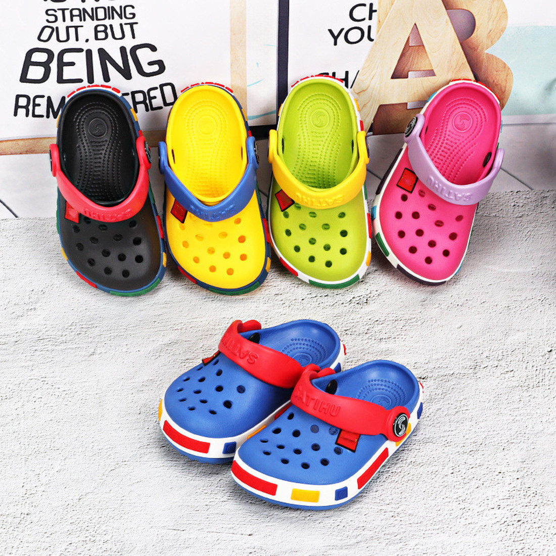New Fashion Kids 2019 Sport Girls Sandals Hole Summer Toddler Boy Girls Beach Slippers Kids Sandals Antislip Children Flat Shoes