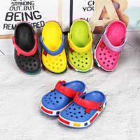 Nouvelle mode enfants 2019 Sport filles sandales trou été enfant en bas âge garçon filles plage pantoufles enfants sandales antidérapant enfants chaussures plates