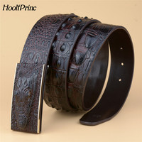 Hot Sale Men Belts Luxury Genuine Leather 3D Crocodile Designer Automatic Buckle Belt Man Real Cow