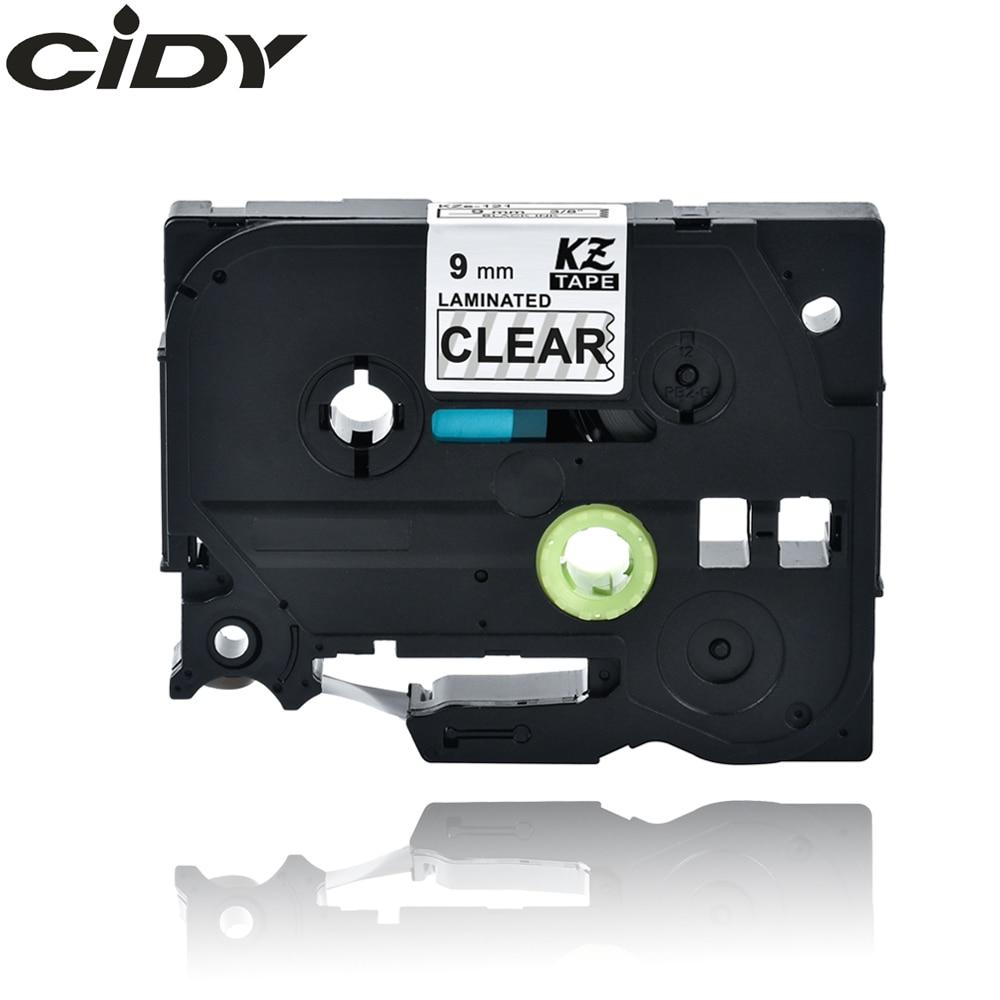 CIDY Tze 121 Tz121 Black On Clear Laminated Compatible P Touch 9mm Tze-121 Tz-121 Tze121 Label Tape Cassette Cartridge